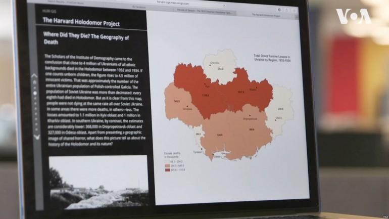 У Гарварді створили інтерактивну мапу Голодомору 1932-1933 років