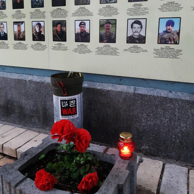 Щомісячна панахида за загиблими у квітні 2020 року героями символічно припала на День піхоти