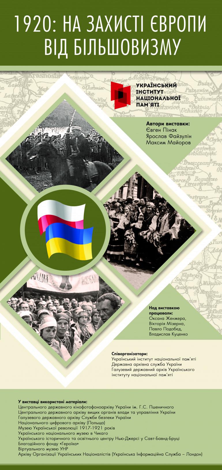 Відкриття виставки «1920: на захисті Європи від більшовизму»